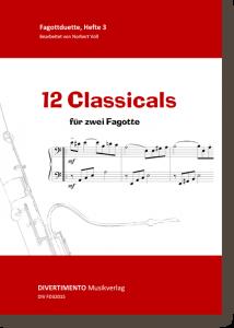 12 Classicals für zwei Fagotte